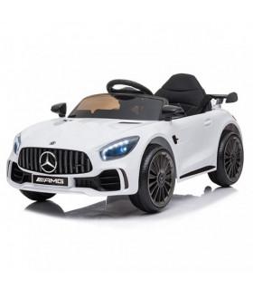Carro Elétrico Mercedes GTR 12V Bateria c/ Comando Branco