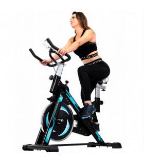 Bicicleta Spinning Malatec Preta/Azul